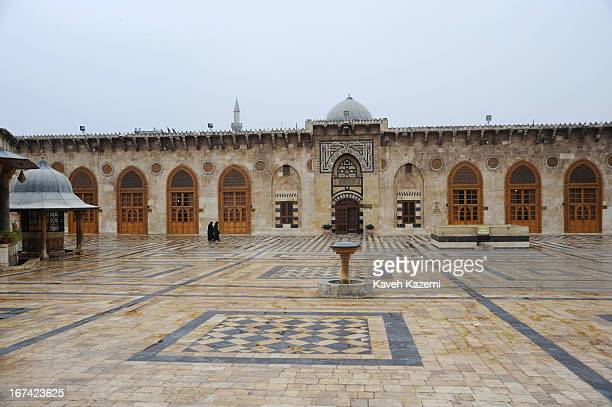 The Great Mosque of Aleppo or the Ummayad Mosque of Aleppo, the largest and oldest mosque in the city of Aleppo on January 05, 2011 in northern Syria.
