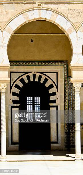 the great mosque of the barber - sidi oqba moschee stock-fotos und bilder