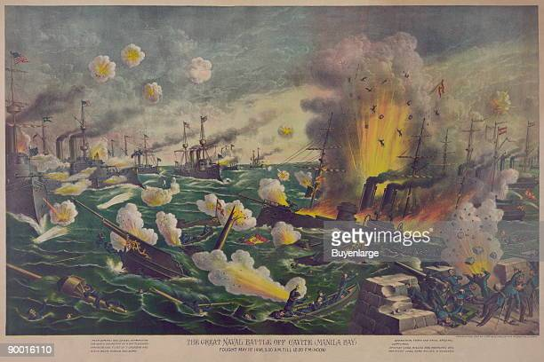 The great naval battle off Cavite fought May 1st 530 AM till 1250 PM