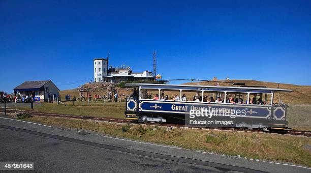 The Great Orme Tramway Approaches The Great Orme Summit In Llandudno North Wales