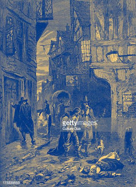 The Great Plague scene from the streets of London 1665