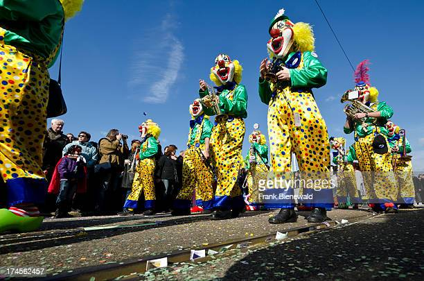 The great procession at 'Basler Fasnet' is one of the most spectacular events lots of fun and joy for everyone