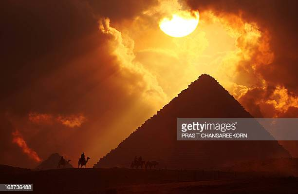 The Great Pyramid of Giza at Sunset, Egypt