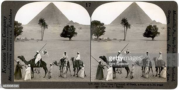 The Great Pyramid of Giza Egypt 1905 Stereoscopic card From a series called Egypt Through the Stereoscope text by James H Breasted
