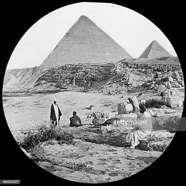 The Great Pyramids Giza Egypt c1890 The Pyramids of Giza were built in the 26th century BC to house the tomgs of the 4th dynasty Pharaohs Khufu...