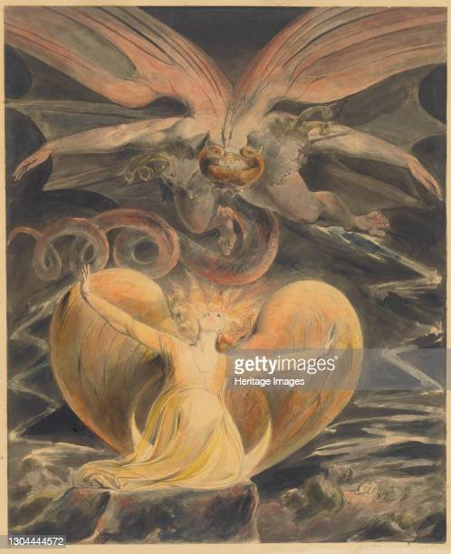 The Great Red Dragon and the Woman Clothed with the Sun, c. 1805. Artist William Blake.