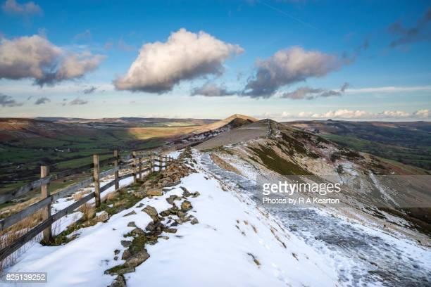 The great ridge, Mam Tor in winter, Peak District, Derbyshire