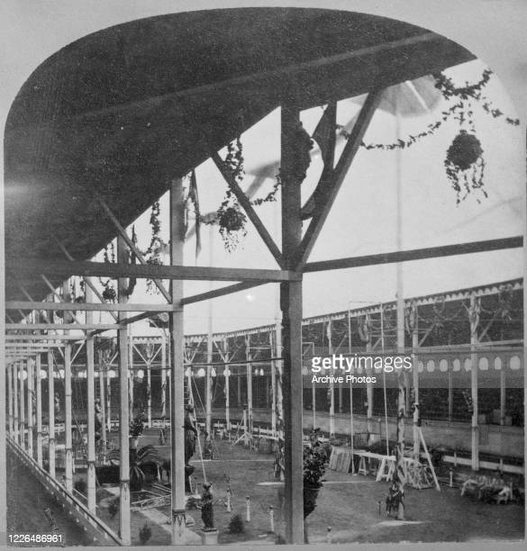 The Great Roman Hippodrome of showman PT Barnum in New York City circa 1880