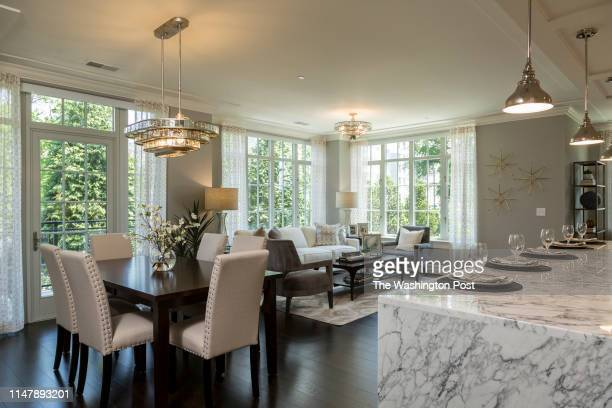 the Great Room showing Kitchen Island and Living area in Unit 306 at The Signet on May 28 2019 in McLean Virginia
