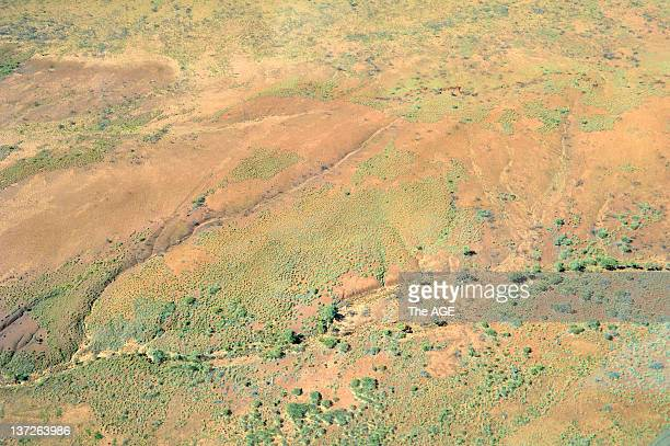 The Great Sandy Desert from the air after rain on September 6 2011 in Australia