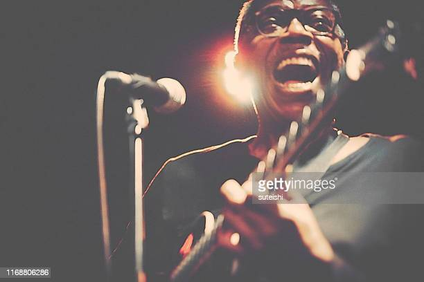 the great singer - soul, jazz and funk - guitarist stock pictures, royalty-free photos & images