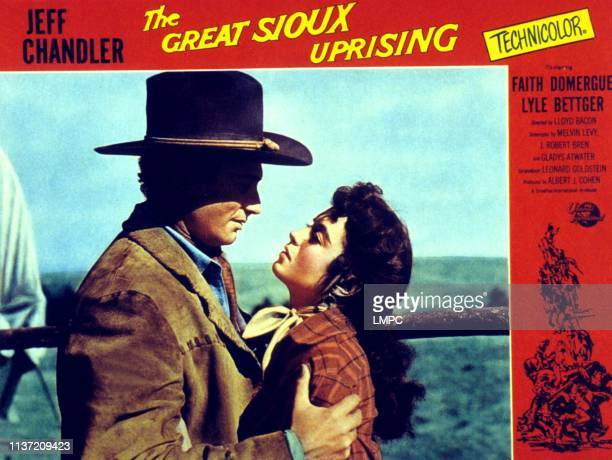 The Great Sioux Uprising lobbycard Jeff Chandler Faith Domergue 1953