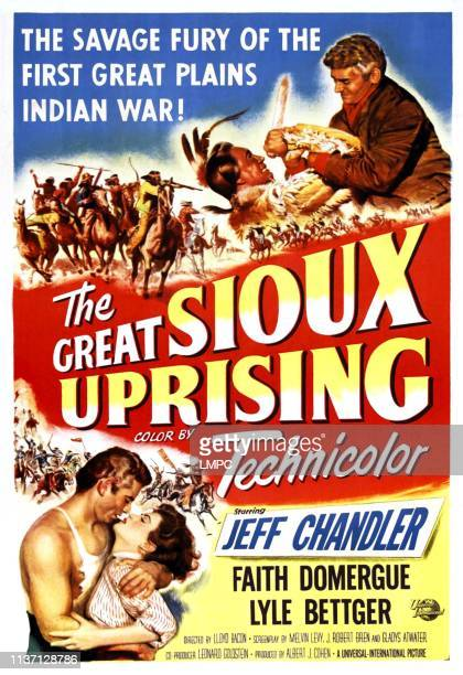 The Great Sioux Uprising poster Jeff Chandler Faith Domergue 1953