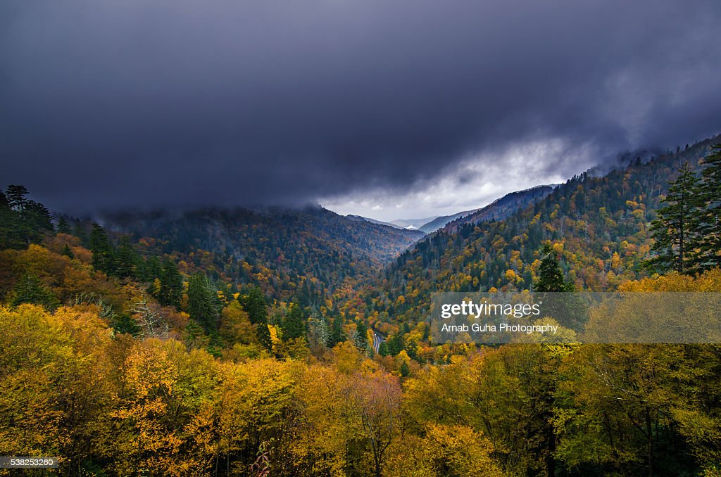 Smoky Mountains Fall Colors Best Time 2020.The Great Smoky Mountain Fall Colors High Res Stock Photo