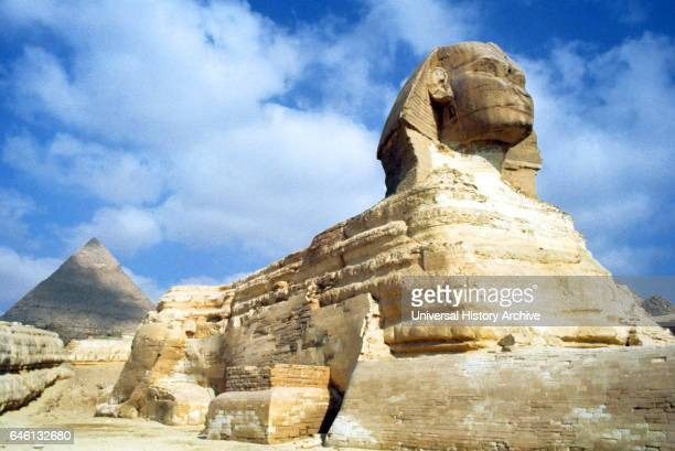 The Great Sphinx of Giza situated on the Giza Plateau adjacent to the Great Pyramids of Giza on the west bank of the Nile River The date of its...