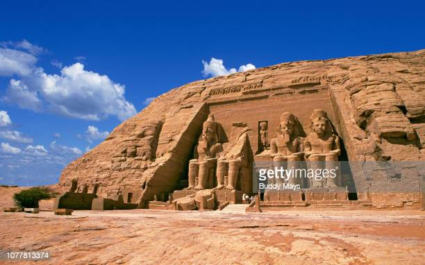 the great temple of rameses ii near aswan egypt - abu simbel stock pictures, royalty-free photos & images