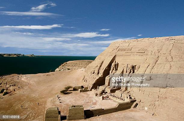 the great temple of ramses ii, abu simbel, egypt - abu simbel stock pictures, royalty-free photos & images