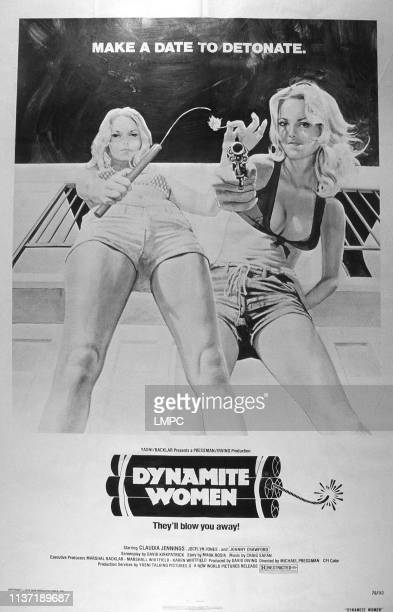 The Great Texas Dynamite Chase poster from left Claudia Jennings Jocelyn Jones 1976