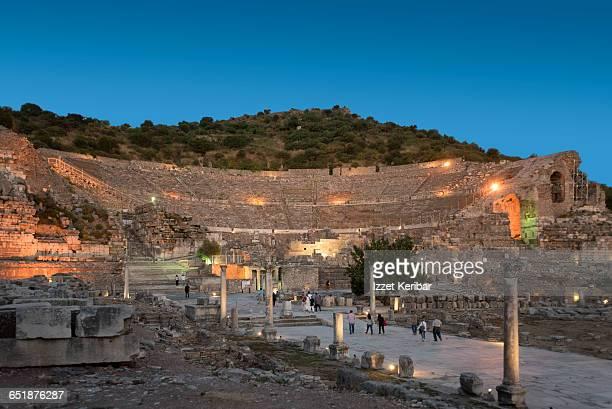 The great theater of Ephesus , Izmir Turkey