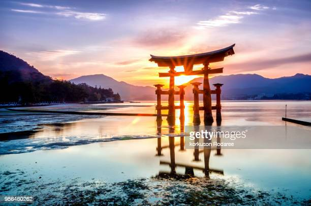 The great torii of Itsukushima shrine - Miyajima island