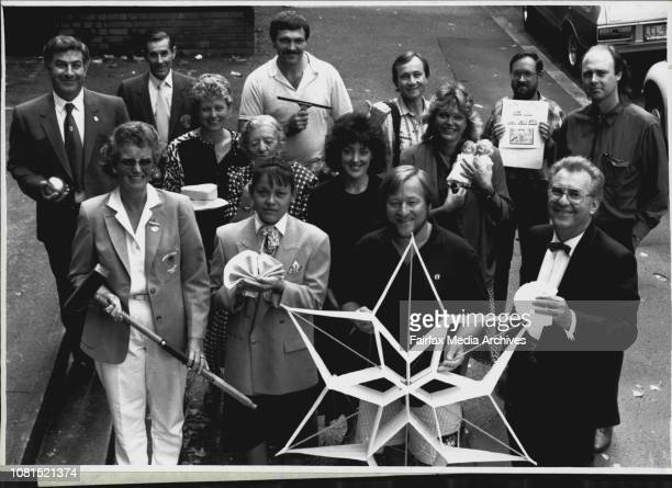 "The Great Unknowns"" -- Front Row Left to Right 4) Kate Fox Pam Rattanawan Ted Coles Allan Carmichael Middle row 4 wom) Helen Chamberlin Neta..."