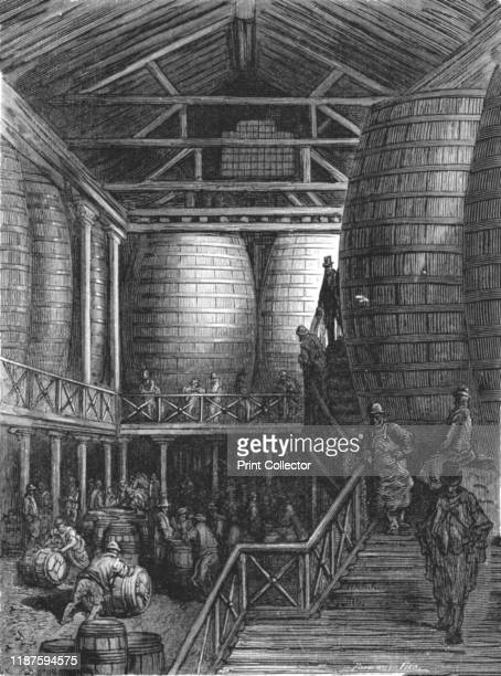 The Great Vats' 1872 Fermentation tanks at Barclay Perkins and Company brewery in Park Street Southwark From LONDON A Pilgrimage by Gustave Dore and...