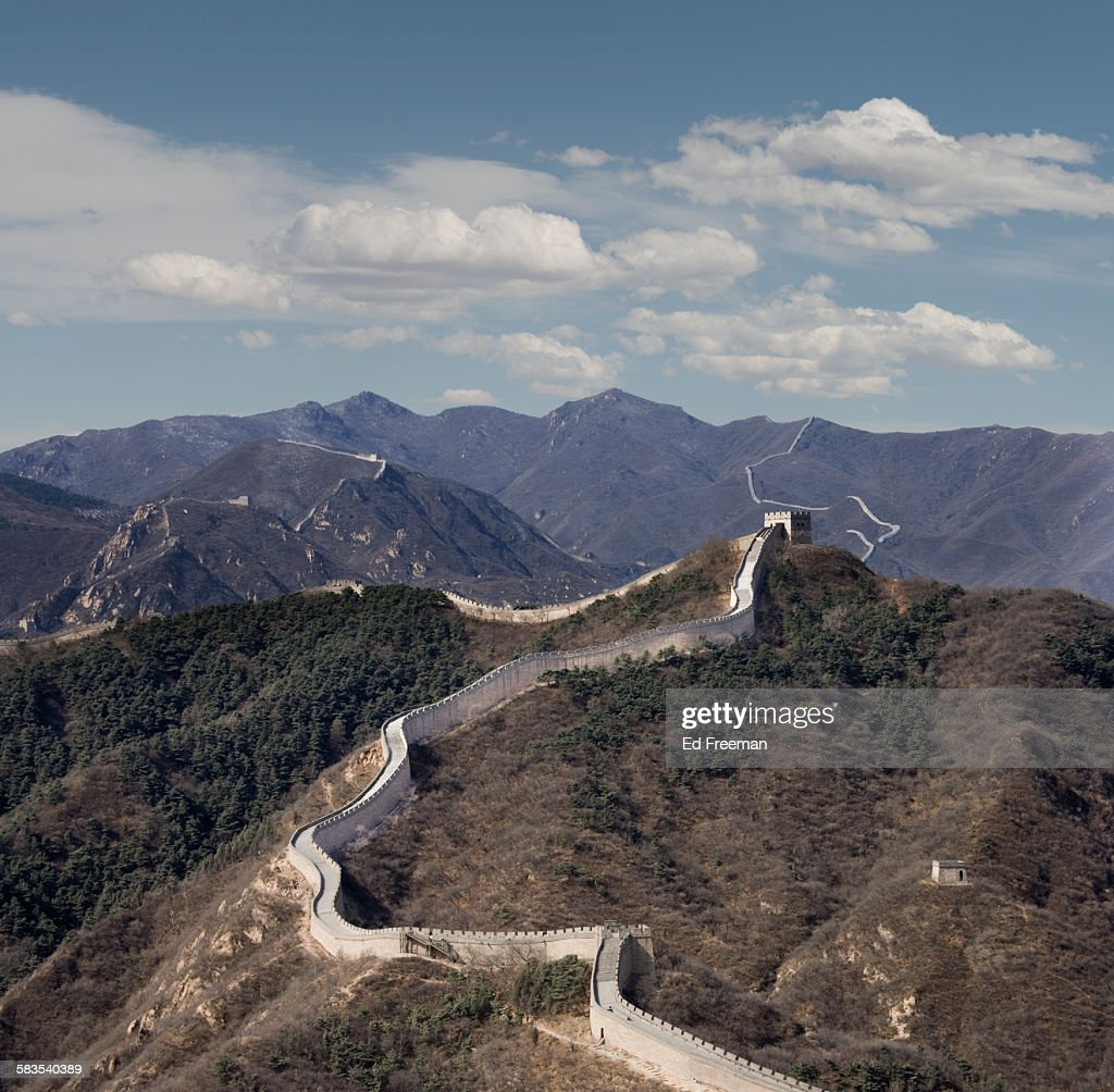 The Great Wall at Badaling, Beijing : Stock Photo