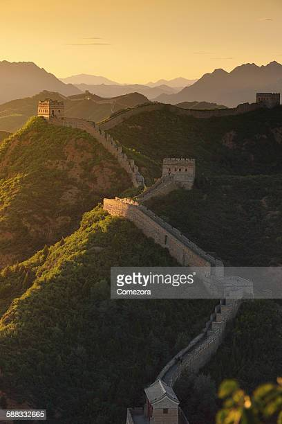 The great wall at sunset