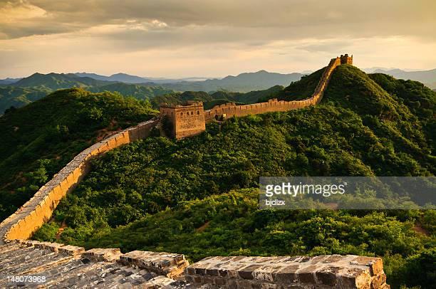 La Grande Muraille au coucher du soleil