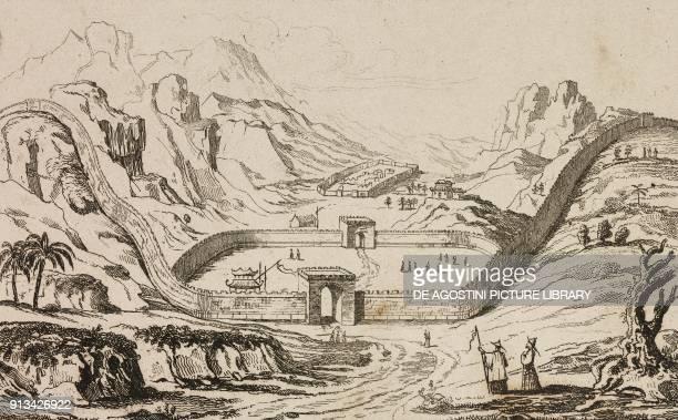 The Great Wall of China, China, engraving from Chine, ou, Description historique, geographique et litteraire de ce vaste empire, d'apres des...