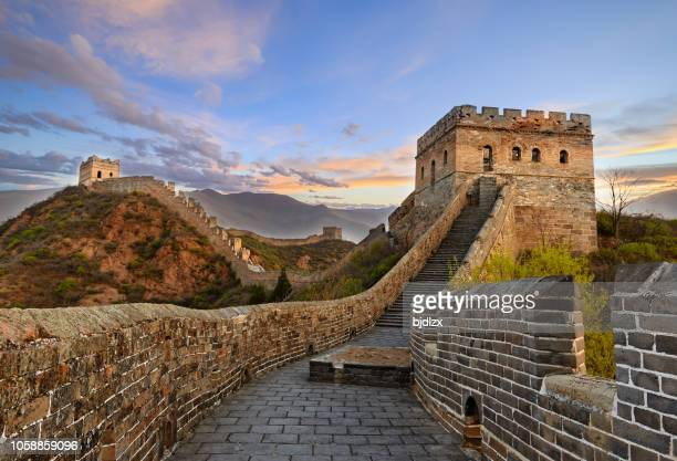 the great wall of china - unesco stock pictures, royalty-free photos & images