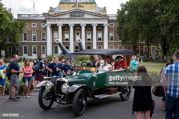 The Great War centenary parade of Edwardian cars leaves the Imperial War Museum on August 4 2014 in London England Monday 4th August marks the 100th...