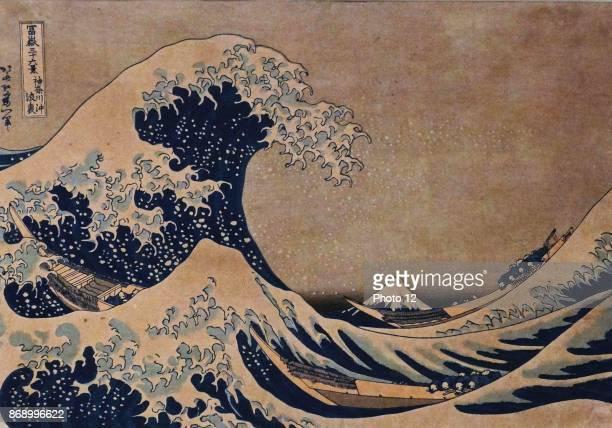 The Great Wave of Kanagawa by Katsushika Hokusai Japanese artist ukiyoe painter and printmaker of the Edo period Dated 1832