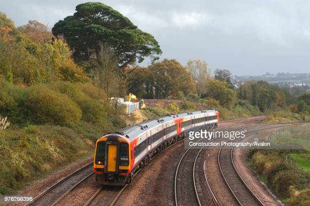 The Great Western Railway. A South West Trains Class 159 DMU at Aller heading for Newton Abbot with a train from Torquay and Paignton. 2005, United...