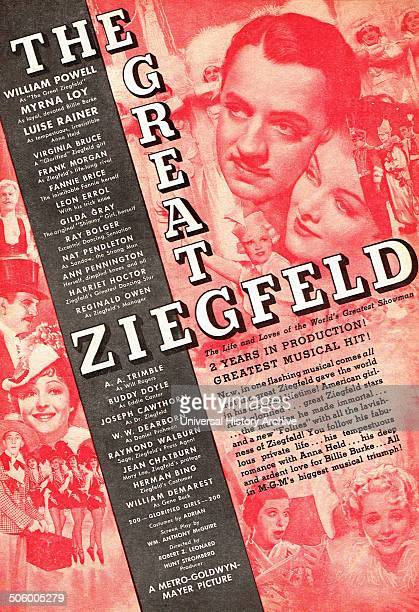 The Great Ziegfeld 1936 winner of three Academy Awards including Best Picture starring William Powell