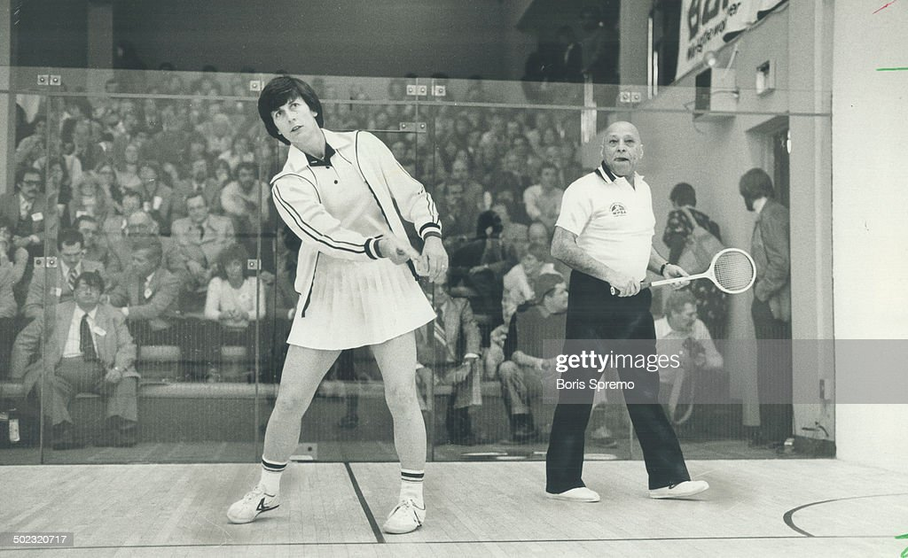 The greatest: Two finest squash players in the world; Heather McKay; 38; and Hashim Khan. 66; both o : News Photo
