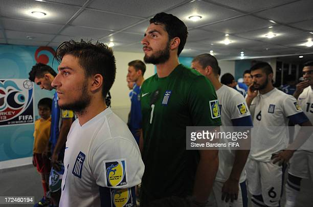 The Greece captain Konstantinos Stafylidis stands in the tunnel before the FIFA U20 World Cup Round of 16 match between Greece and Uzbekistan at...