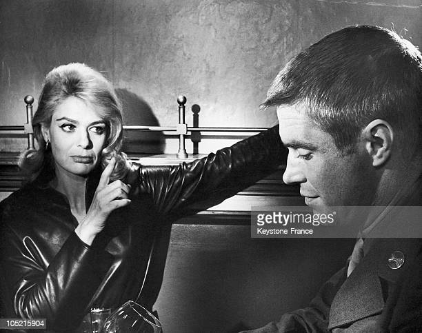 The Greek Actress Melina Mercouri And George Peppard Playing Magda And Chase In Carl Foreman'S 1963 Film The Victors.