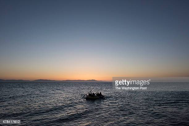 'THE BLACK ROUTE' The Greek Islands are the gateway to Europe for many refugees Scenes around Kos town on May 9th 2015 in Kos Island Greece Four...