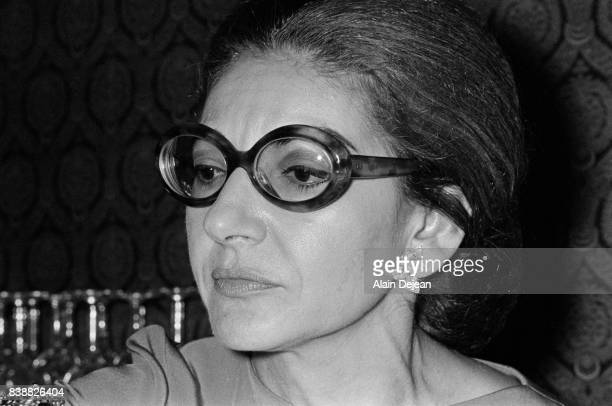 The Greek Opera singer Maria Callas during a gala for the French Medical Research Foundation at Grand Palais in Paris October 1970