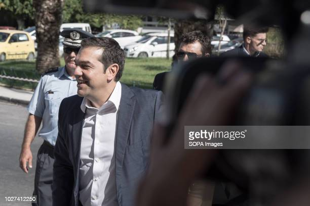 The Greek Prime Minister Alexis Tsipras seen during his visit The Greek Prime Minister Alexis Tsipras visits Chania He wants to be in contact with...
