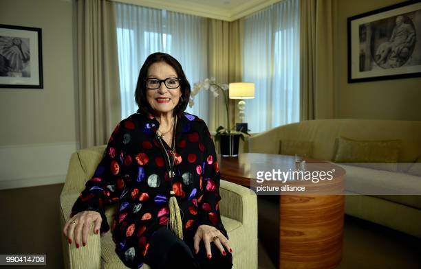 The Greek singer Nana Mouskouri photographed during an interview in Berlin Germany 12 January 2018 Photo Britta Pedersen/dpa