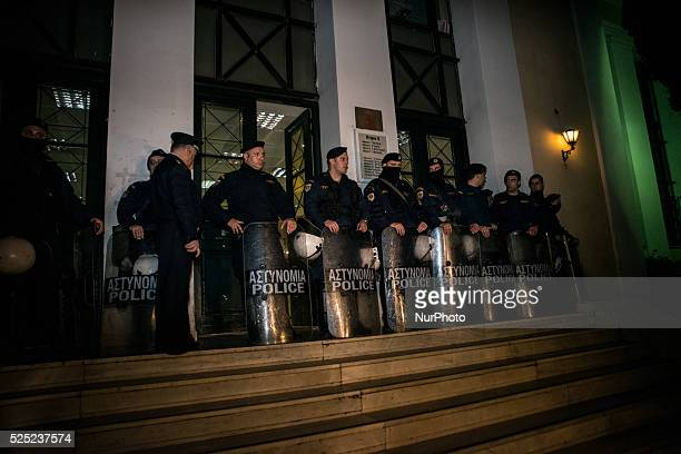 The Greek TopTerrorist Christodoulos Xiros is escorted by antiterrorism police officers on his way to the Prosecutor after been recaptured on January...