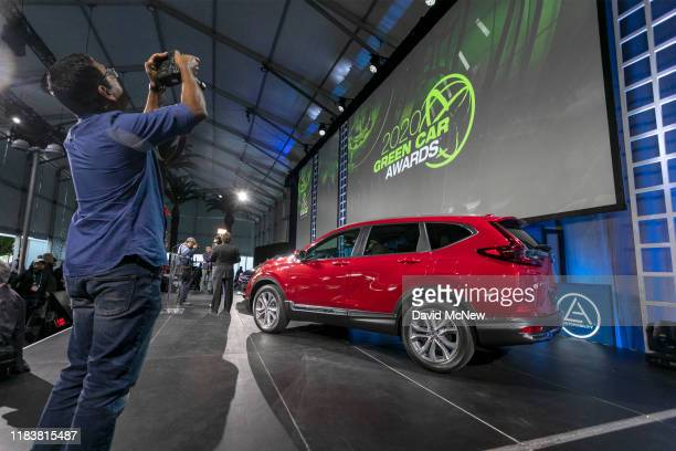 The Green Car Award winning Honda CR-V is shown at AutoMobility LA on November 21, 2019 in Los Angeles, California. The four-day press and trade...