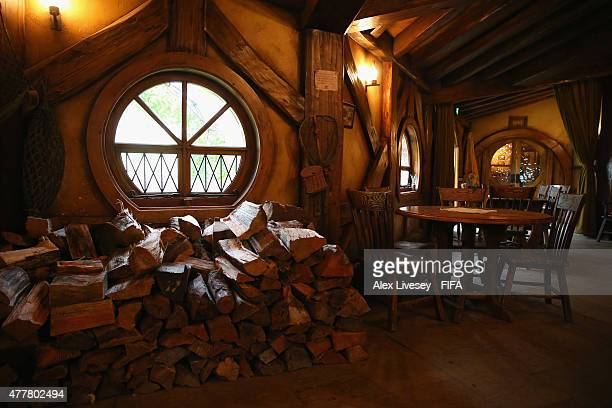 The Green Dragon Inn is seen at the Hobbiton Movie Set where Lord of the Rings and The Hobbit trilogies were filmed during the FIFA U20 World Cup on...
