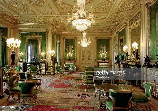 The Green Drawing Room Restored Completely After The Fire At Windsor Castle
