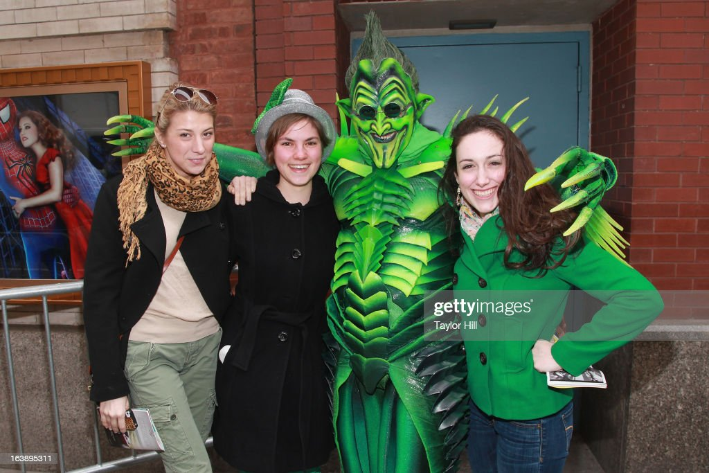 The Green Goblin (Actor Bob Cuccioli) attends the 'SPIDER-MAN Turn off The Dark' St. Patrick's Day Celebration at Military Island, Times Square on March 17, 2013 in New York City.