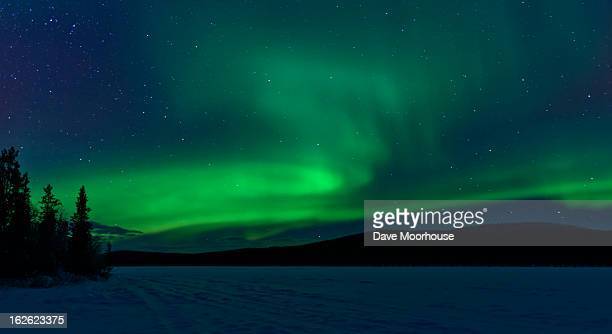 The green light of the Aurora