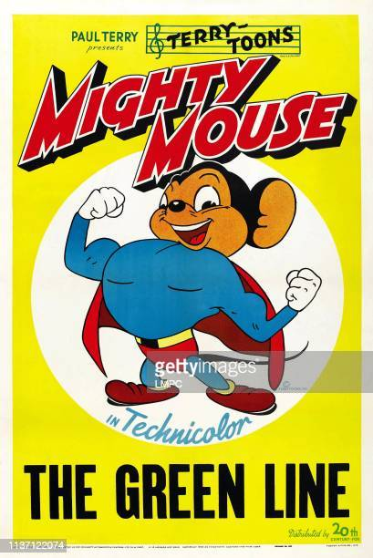 The Green Line poster US poster art Mighty Mouse 1944