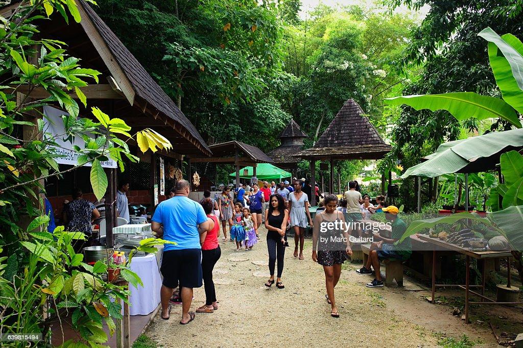 The Green Market Santa Cruz Trinidad Tobago Stock Photo